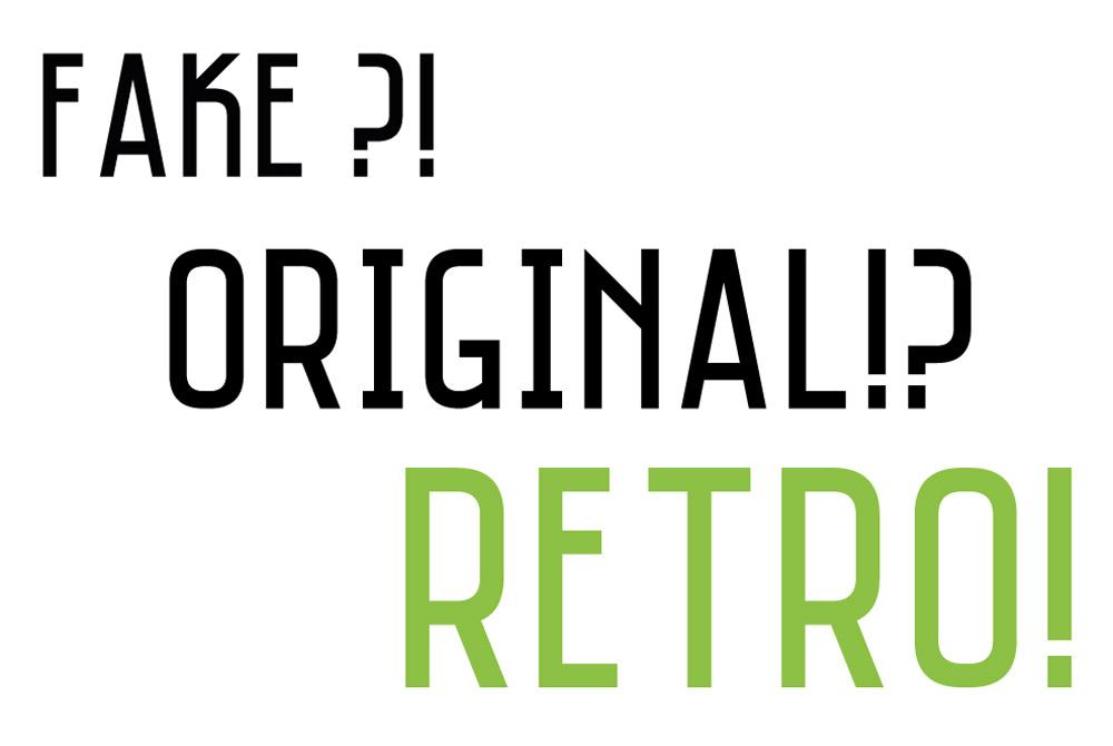 fake original retro trend